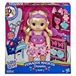 Baby Alive Muñeca Daniela peinados mágicos (Hasbro E5241SC1)