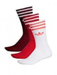 adidas Solid Crew Sock 3 Pack Socks, Hombre