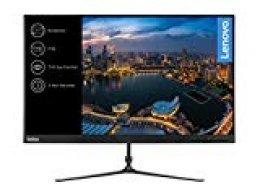 """Lenovo L24i-10 - Monitor de 23.8"""" (Pantalla FullHD/IPS, 1920 x 1080 pixeles, tiempo de respuesta de 4 ms, VGA, HDMI, 1000:1) color negro"""