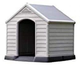 Curver 12-921177 - Caseta de perro para jardín, Color topo/beige, 95x99x99 cm