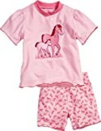 Playshoes Schlafanzug Shorty Single-Jersey Pferde Pijama, Rosa (Original), 12 Meses para Niños