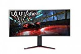 "LG 38GN950 Ultragear Monitor Gaming 38"" QuadHD+ UltraWide Curvo 21:9 LED NanoIPS 1ms HDR 600, 3840x1600, 1x Display Port 1.4, 3X USB 3.0; Salida Audio, Altura Ajustable, Flicker Safe, Negro"