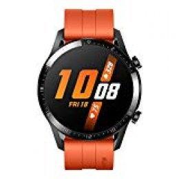 """Huawei Watch GT2 - Smartwatch con Caja de 46 Mm (hasta 2 Semanas de Batería, Pantalla Táctil Amoled de 1.39"""", GPS, 15 Modos Deportivos, Llamadas Bluetooth), Color Naranja"""