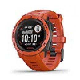 Garmin Instinct - Reloj con GPS, Unisex, Rojo, 1