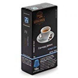 Luscioux Adagio Dek compatibles con Nespresso| Aroma intenso descafeinado | envase de 10 [total 100 cápsulas