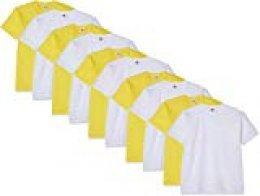 Fruit of the Loom Kids Multipack Camiseta (Pack de 10) para Niños