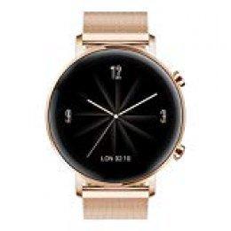 """Huawei Watch GT 2 Elegant - Smartwatch con Caja de 42 mm, 1 Semanas de Batería, Pantalla Táctil AMOLED de 1.2"""", GPS, 15 Modos Deportivos, Pantalla de Cristal 3D, Color Refine Gold"""