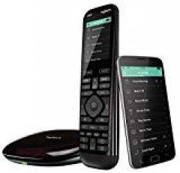 Logitech Harmony Elite - Mando a distancia avanzado para control de TV y multimedia, hub y aplicación, negro