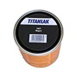 Titanlux - Esmalte-Laca poliuretano satinada Titanlak, Negro, 750ML (ref. 011140134)