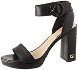 Guess Brendy (Sandal)/Leathe, Sandalia con talón para Mujer, Negro, 38 EU
