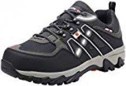 Zapatos de Seguridad para Hombre Zapatillas de Seguridad Trabajo Industrial y Deportiva con Puntera de Acero LM-105 (Negro, 41 EU)