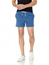 Marca Amazon - Goodthreads: pantalones cortos de lona elásticos para hombre con tiro de 13 cm.