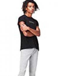 Marca Amazon - find. Camiseta Estampada para Hombre, Negro (Charcoal), M, Label: M