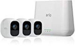 Arlo  VMS4330P-100EUS Pro 2 - Sistema de seguridad y vídeo vigilancia de 3 cámaras sin cables 1080p HD (recargable, interior/exterior, visión nocturna, audio bidireccional, visión 130º)