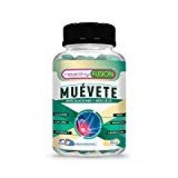Muévete | Potente antiinflamatorio con acción analgésica | Reduce y elimina eolores | Regenerador articular | Potente cúrcuma + colágeno + magnesio + condroitina + MSM + vitamina C | 50 unidades