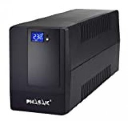 Phasak PH 9420 - Sistema de alimentación ininterrumpida (2000 VA, LCD, USB, RJ45)