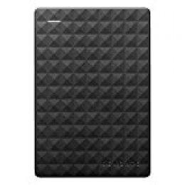 Seagate Expansion Portable, 5TB, Disco duro externo, HDD de escritorio, USB 3.0 para PC, ordenador portátil y Mac (STEA5000402)