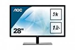 "AOC U2879VF - Monitor de 28"" 4K UHD (3840 x 2160, 60 Hz, TN, 1 ms, FreeSync, Displayport, HDMI), Plata/ Negro"