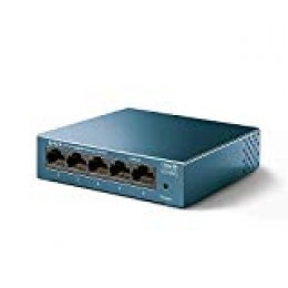 [New] TP-Link Switch 5 Puertos 10/100/1000 (LS105G) Switch ethernet, Switch gigabit, Indicador del Estado, chasis metálico Ultraligero con Super disipación de Calor, QoS