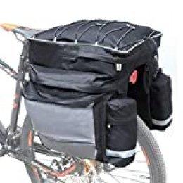 COFIT 68L Bicicleta Pannier, Bolso Impermeable para Maletero de Bicicleta como Portaequipajes Negro