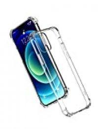 UGREEN Funda para iPhone 12, Funda de Silicona Flexible, Carcasa Anti- Choques y Anti-Arañazos Protección a Bordes, Carcasa Suave TPU Antideslizante - Transparente