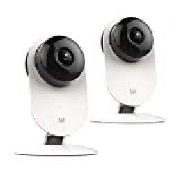 YI Cámara Vigilancia IP Interior 720P Cámara Vigilancia IP WiFi Camara Videovigilancia para Bebé Mascota Inalámbrica con Visión Nocturna Detección Movimiento con Paquete (2 Packs)