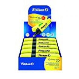 Pelikan Premium Textmarker Rotuladores fluorescentes, paquete de ahorro 10 piezas, amarillo, hecho en Alemania, set escolar, oficinas - 940379A