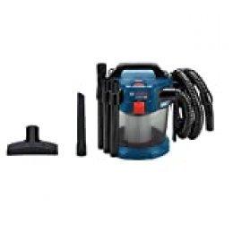 Bosch Professional GAS 18V-10 L Aspirador, capacidad 10 l, manguera 1,6 m, 90 mbar, sin batería, 0 W, 18 V, Azul