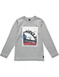 REPLAY Sb7060.085.2660 Camisa Manga Larga, Gris (Grey Melange M02), 152 (Talla del Fabricante: 12A) para Niños
