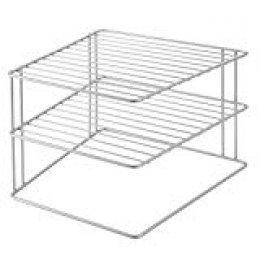 Metaltex PALIO Rinconera de cocina con 3 estantes, color gris