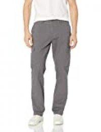 Amazon Essentials – Pantalones cargo elásticos de corte entallado para hombre, Gris oscuro, 30W x 30L