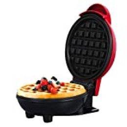 Lepeuxi Maquina de Gofres Mini Waffle Maker Máquina de Desayuno Antiadherente Fácil de Limpiar