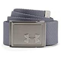 Under Armour Men's Webbing 2.0 Belt Cinturón, Hombre, Gris (513), Talla Única