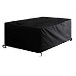 Awnic ZEMB07DZY42X3 Funda para Muebles de Patio Impermeable, 170X95X75cm, color Negro