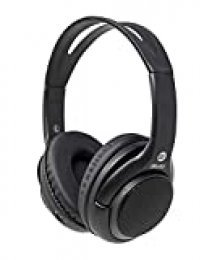 iWotto Auriculares + Altavoces Bluetooth 2 en 1, Inalámbricos, Stereo, Plegables, Manos Libres, Color Negro, Calidad Sonido, sobre Mesa, Ergonómicos, Aislantes de Sonido Exterior