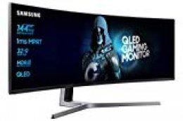 "Samsung C49HG90DMU - Monitor Curvo Gaming 49"" (QLED, 2 x Full HD, 32:9, 144 Hz, 1 ms, HDR, 3000:1, 1800R, FreeSync)"