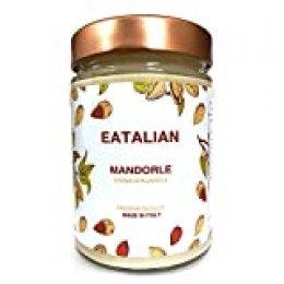 EATALIAN Crema de almendras para untar 300 gramos, mantequilla de almendras Made in Italy. Ideal para pan y para rellenar pasteles, sin gluten