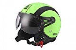 Sparco Riders Casco 501 Verde/Negro, talla S