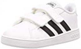 adidas Grand Court I, Zapatillas de Estar por casa Unisex niños, Blanco (Ftwbla/Negbás/Ftwbla 000), 22 EU