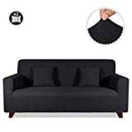 TAOCOCO Funda de sofá con Forma de Diamante/Funda de sofá Antideslizante/Funda de sofá elástica/Lavable/antiácaros/Antiarrugas (Negro, 120_x_190_cm)