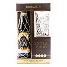 Estuche Brugal Extra viejo y Vaso. Ron Dominicano - 700 ml