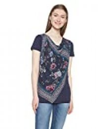 Desigual TS Vicent Camiseta, Azul (Navy 5000), S para Mujer