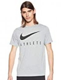 Nike M Nk Dry tee Db Athlete Camiseta de Manga Corta, Hombre, dk Grey Heather/(Black), S