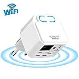 Wodgreat Repetidor WiFi 300 Mbit/s (2.4 GHz) Amplificador WiFi Extensor Repetidor de Señal WiFi con Repetidor Inalámbrico con Botón WPS y Puerto Ethernet, Modo Repetidor y Ap Fácil de configurar