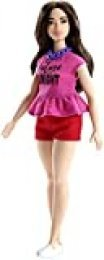 Barbie Fashionista Muñeca cuerpo Curvy, look 'Future is bright' (Mattel FJF58) , color/modelo surtido