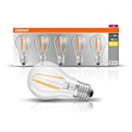Osram Classic - Lámpara LED (Blanco cálido, A++, 50-60 Hz, 220 - 240 V, 7 kWh, 6 cm), paquete de 5 piezas