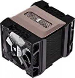 Corsair A500, Refrigerador de CPU de Doble Ventilador de Rendimiento, Refrigera hasta 250W TDP, Sistema Intuitivo de Montaje de deslizamiento de Ventilador, Ventiladores Corsair ML120, Color Negro