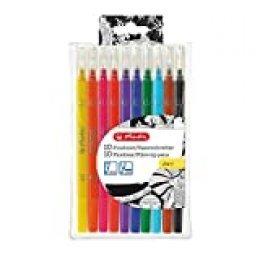 Herlitz 50007486 pluma estiligráfica Negro, Marrón, Azul claro, Rojo, Amarillo 10 pieza(s) - Pluma estilográficas (Negro, Marrón, Azul claro, Rojo, Amarillo, Alrededor, 10 pieza(s))