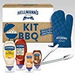 Hellmann's Kit Barbacoa Edición Limitada: 4 salsas + Pinzas y Manoplas Barbacoa