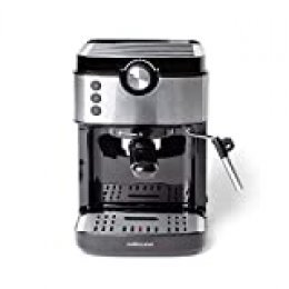 Mellerware Bari Legend cafetera espresso programable 20 bares y filtro extracream. Acero inoxidable